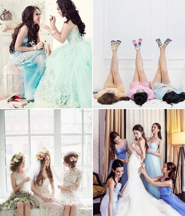 伴娘婚纱照怎样拍有创意