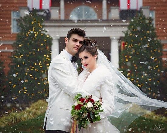 圣诞主题婚纱照