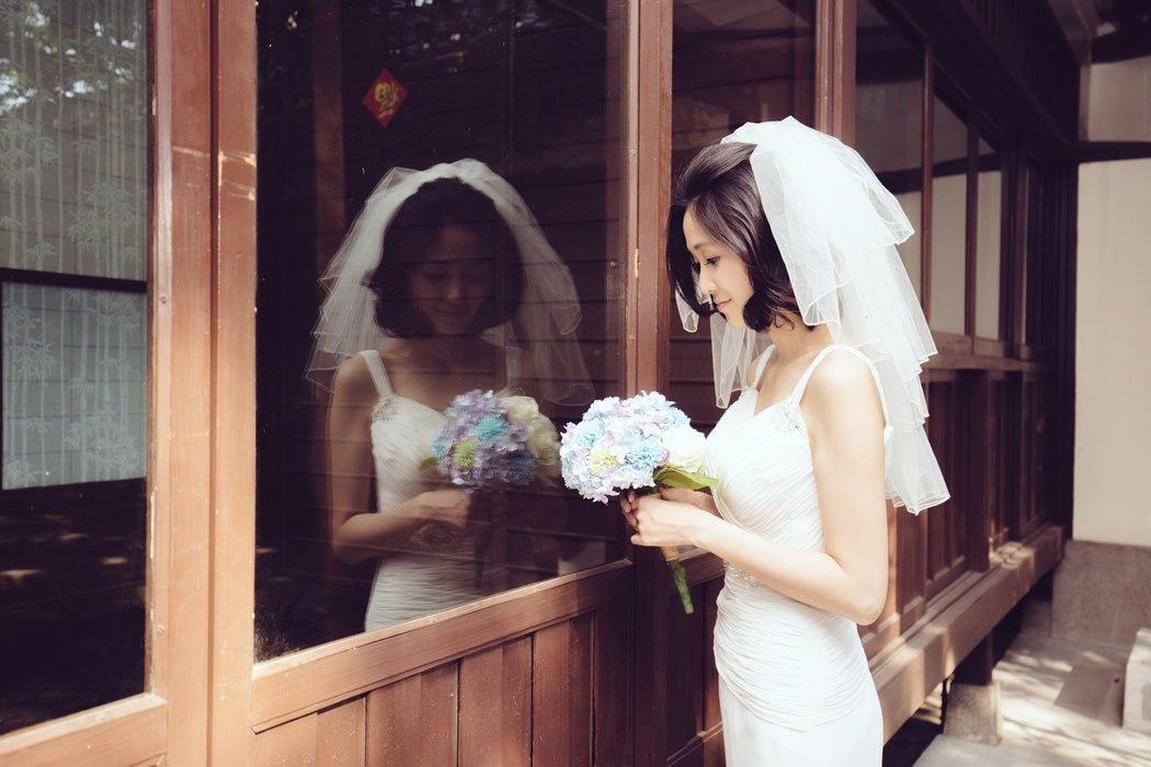 短发新娘造型