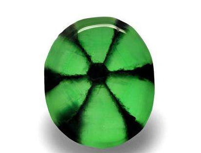 绿色宝石 达碧兹祖母绿如何鉴定  1,看达碧兹祖母绿的结构 我们从达碧