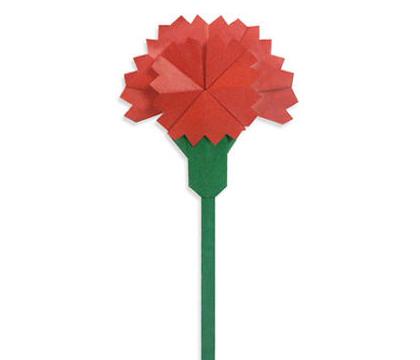 求婚学堂 结婚百科 礼物大全 母亲节送折纸花什么做法  康乃馨象征着