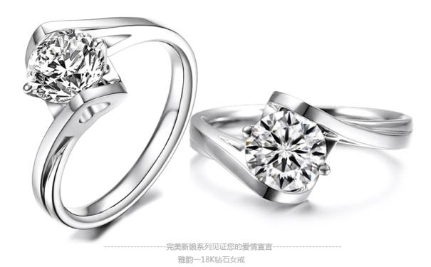 流行的钻石戒指款式大放送,时尚look!图片