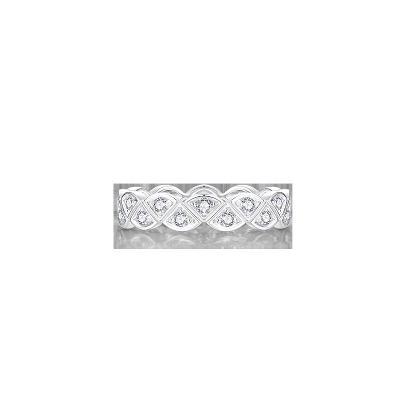 扇形鉑金鉆石戒指