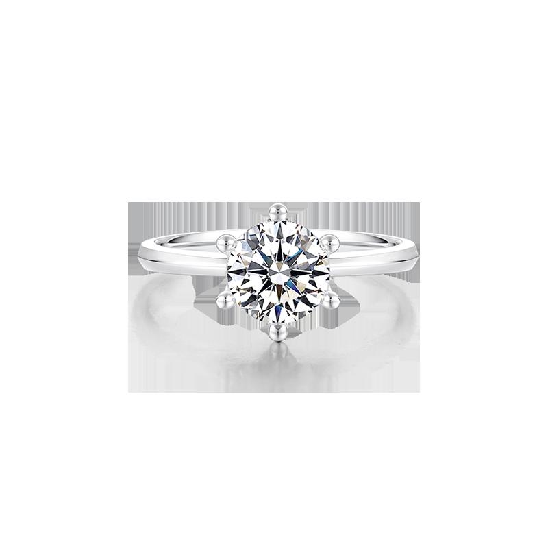 【簡單款】摯愛 鉑金鉆石戒指