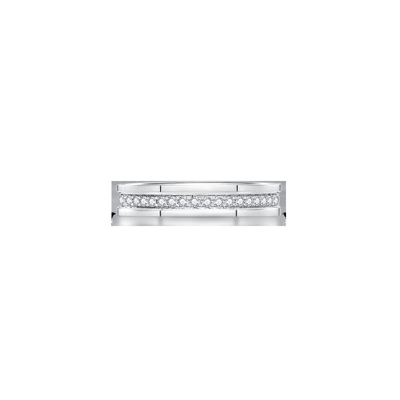 符號鉑金鉆石戒指