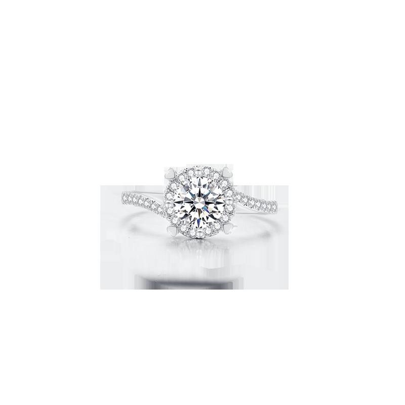 极光铂金钻石戒指