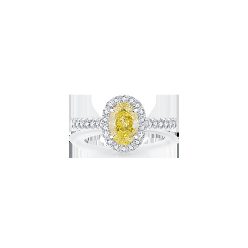 Concinnity優雅 彩鉆鉑金鉆石戒指