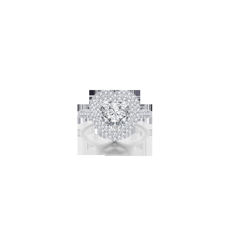 Romantic浪漫 彩鉆鉑金鉆石戒指