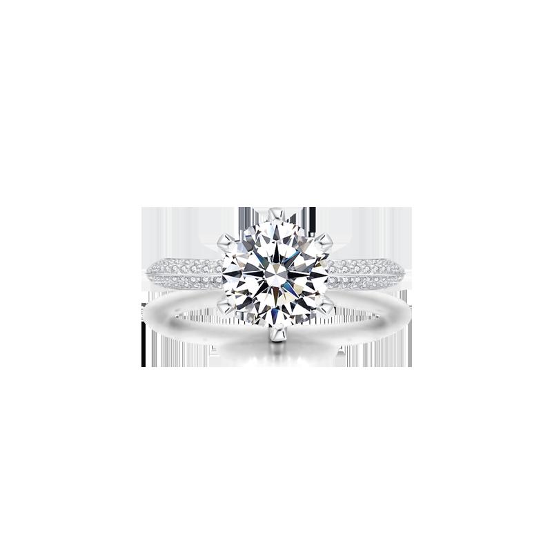 摯愛鉑金鉆石戒指,豪華款
