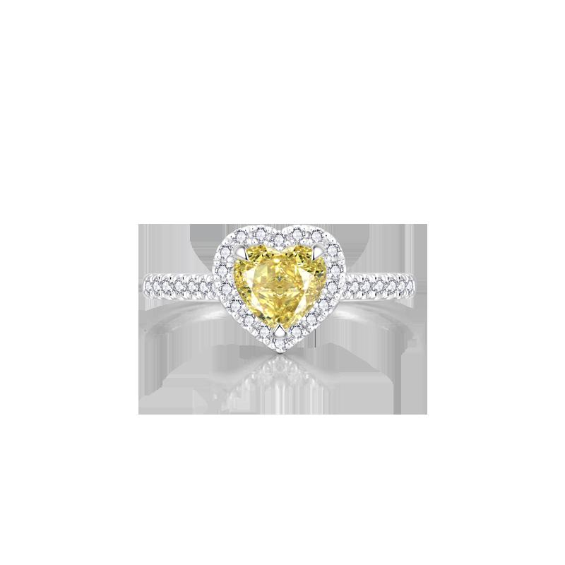 Artcut鉑鉆系列 彩鉆鉑金鉆石戒指