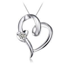 心爱-18K金钻石吊坠