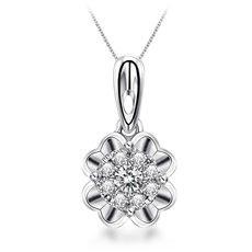 天使之泪-18K金钻石吊坠