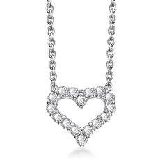 甜蜜心-18K金钻石吊坠