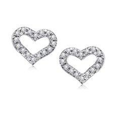 心悦-18K金钻石耳钉