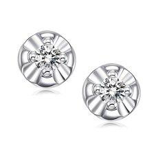 花蕊—18K金钻石耳钉