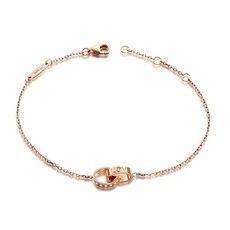 永恒之恋-18K玫瑰金钻石手链