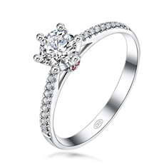 奢華女王之冠  18K金群鑲鉆石戒指