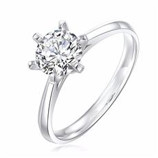 傳承六爪 18K金鉆石戒指
