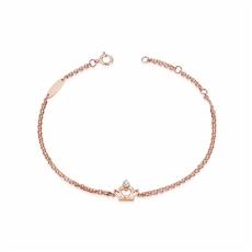 王妃之冠 18K玫瑰金钻石手链