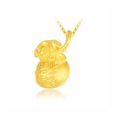 祈福袋-黃金吊墜【3d硬金】