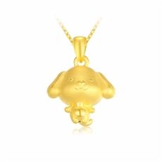 【旺財狗】-黃金吊墜