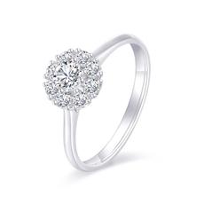 星空 18K金群镶钻石戒指