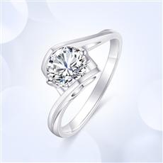 天使之吻—18K金鉆石戒指