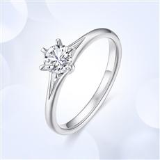 公主皇冠—18K金鉆石戒指【副鉆款】