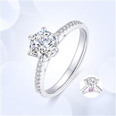 女王之冠—18K金钻石戒指【红宝石款】