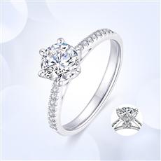 女王之冠—18K金鉆石戒指【副鉆款】