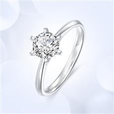 傳承六爪—18K金鉆石戒指