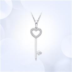 【新品】-18K金钻石吊坠