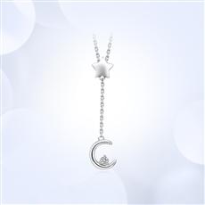 星月之恋-18K金钻石链坠