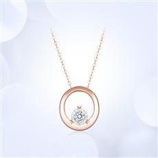 18K金钻石链坠 X0101R