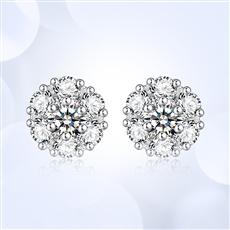 繁星-18K金鉆石耳釘