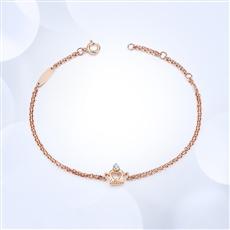 王妃之冠[双层]-18K金钻石手链