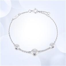 幸福流转-18K金钻石手链