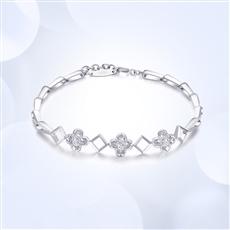 四叶草-18K金钻石手链