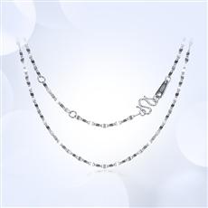 鏡片鏈-鉑金項鏈