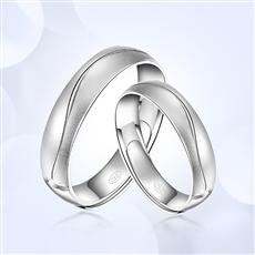 一线牵-铂金戒指