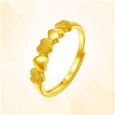 心愛-足金黃金戒指