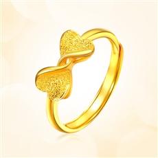 情結-足金黃金戒指
