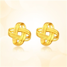 織愛-足金黃金耳釘
