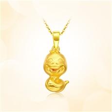 蛇宝宝-黄金吊坠【3D硬金】