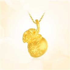 祈福袋-足金黃金吊墜