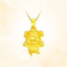 【新品】-黄金吊坠【3D硬金】