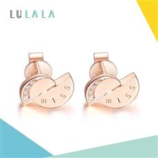 LULALA系列-MISS 18K金鉆石耳釘