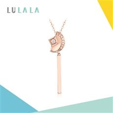 LULALA系列-攬月 18K金鉆石鏈墜