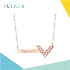 LULALA系列-Forever 18K金鉆石鏈墜