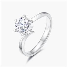 心花怒放—18K金鉆石戒指【簡單款】